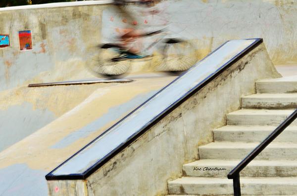 Kae Cheatham - Biking the Skateboard Park