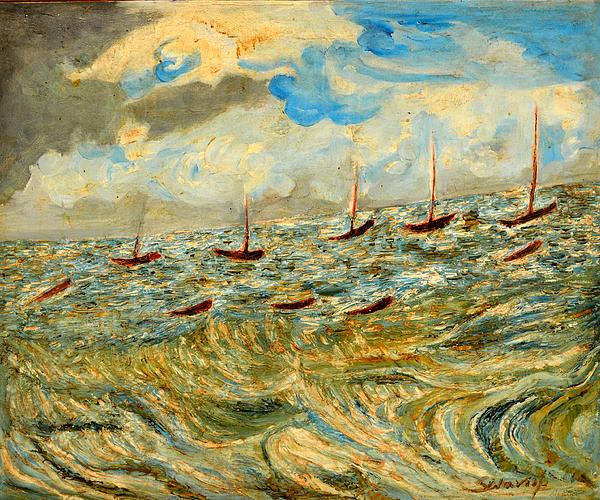 Anand Swaroop Manchiraju - Boats And Boats In Sea