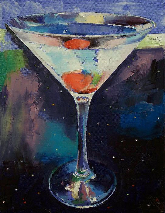 Bombay Sapphire Martini Throw Pillow For Sale By Michael Creese