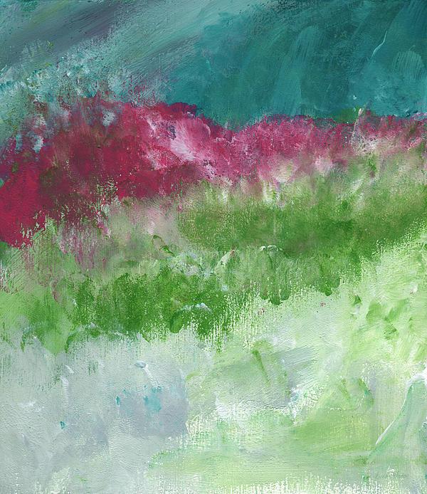 Linda Woods - Bougainvillea- Contemporary Impressionist Painting
