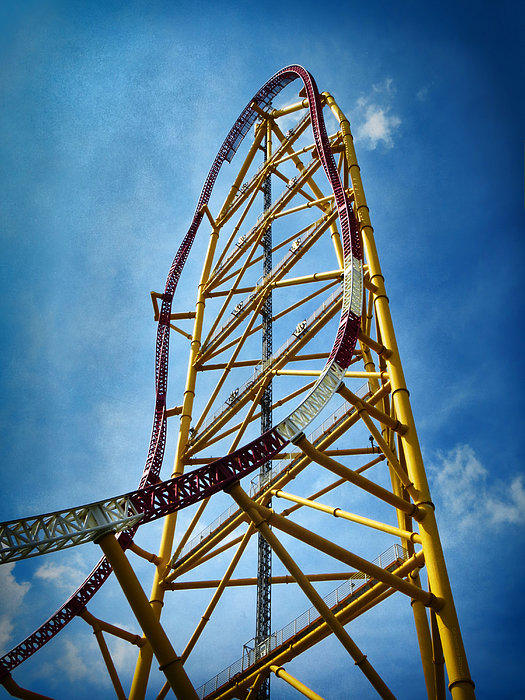 Cedar Point Top Thrill Dragster Greeting Card