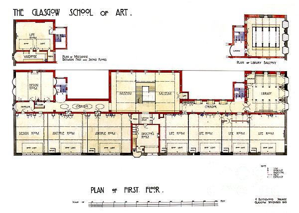 Charles Rennie Mackintosh Glasgow School Of Art Plan Of First Floor Iphone 8 Case For Sale By Elaine Mackenzie