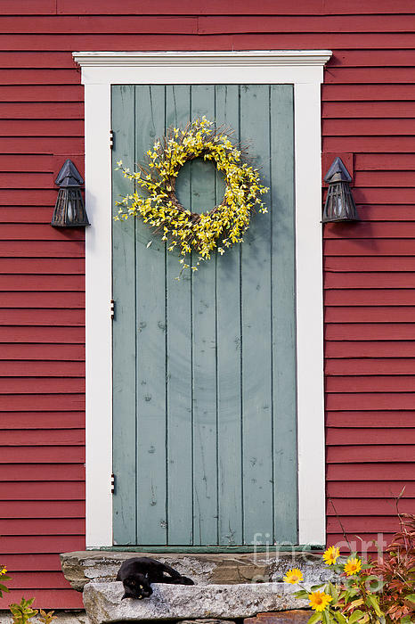 Boundary Bleed area may not be visible.  sc 1 st  Fine Art America & Country Door Greeting Card for Sale by Alan L Graham