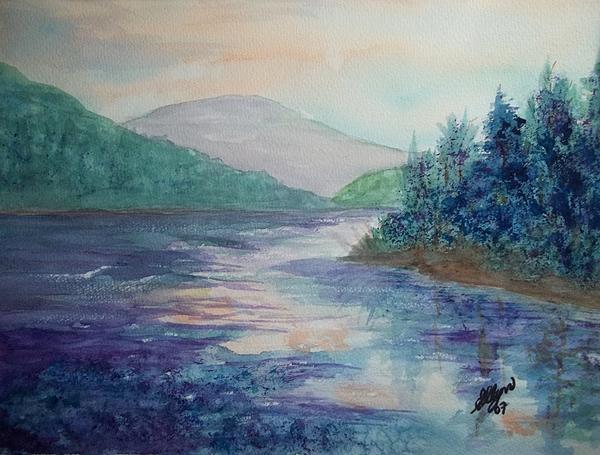 Ellen Levinson - Dawn Kissed Lake North South Lake