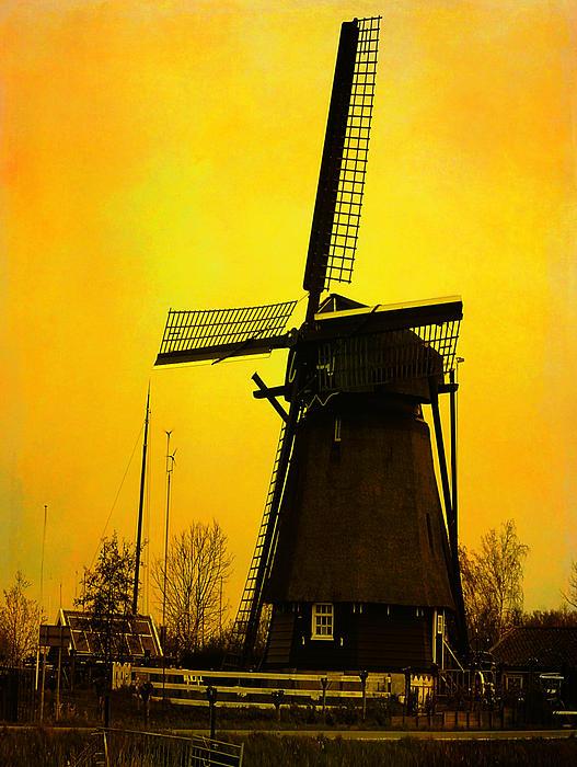 Yvon van der Wijk - Dutch WindMill - Yellow