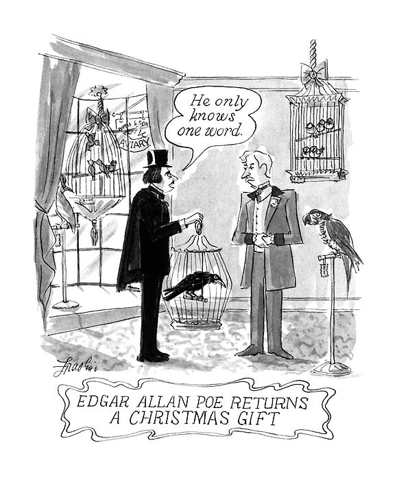 d93748d73 Edgar Allan Poe Returns A Christmas Gift Onesie for Sale by Edward ...
