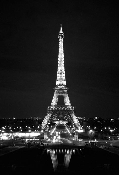 Eiffel tower in black and white by heidi hermes boundary bleed area may not be visible