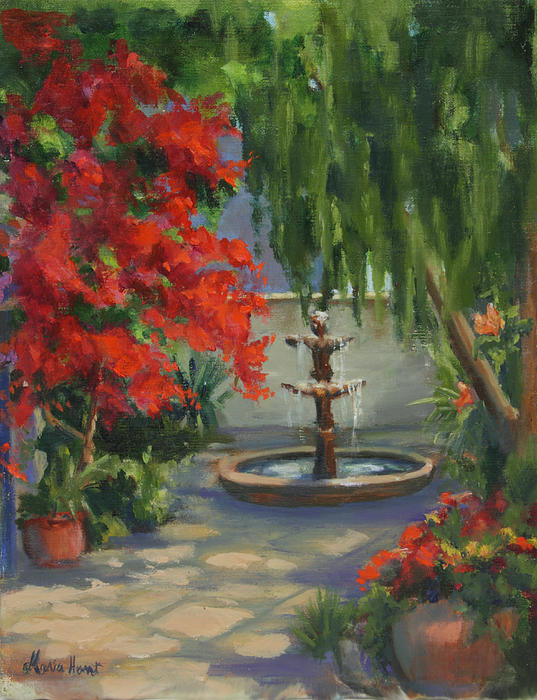 Maria Hunt - Fountain in the Courtyard