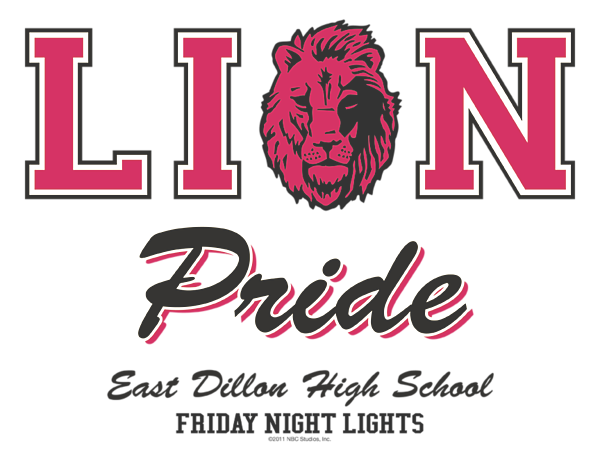 Friday Night Lights East Dillon High School LION PRIDE Adult Tank Top All Sizes