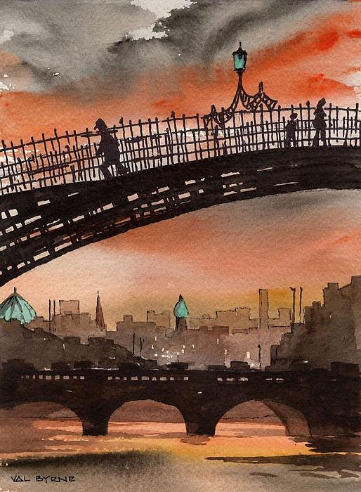Val Byrne - Ha Penny Bridge  Dublin 1