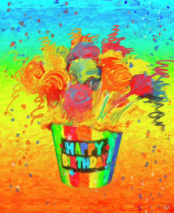 Happy Birthday Greeting Card For Sale By Angela Stanton