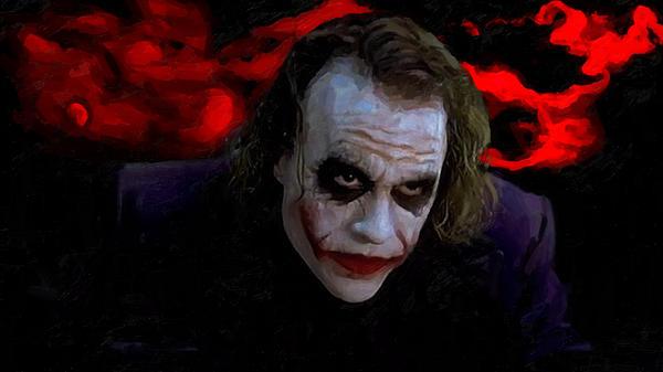 Halloween Joker Card.Heath Ledger As Joker Greeting Card