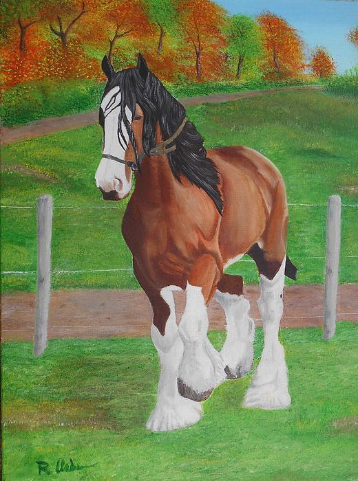 Raymundo Urbina - Horse in the field