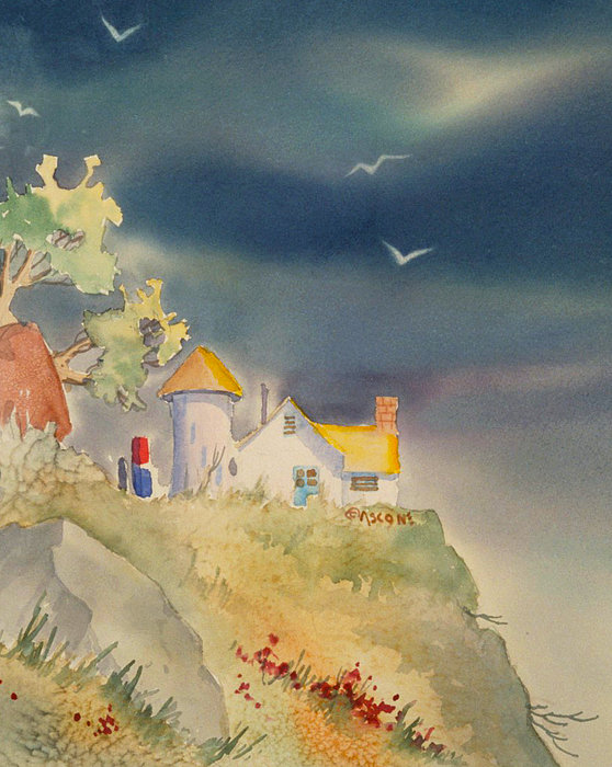 Teresa Ascone - House with Yellow Roof