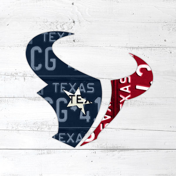 Houston Texans Logo Stencil Painting 12 x 12 Canvas