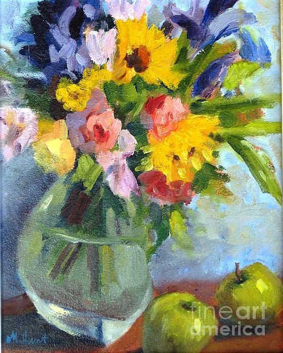 Maria Hunt - Irises and Apples