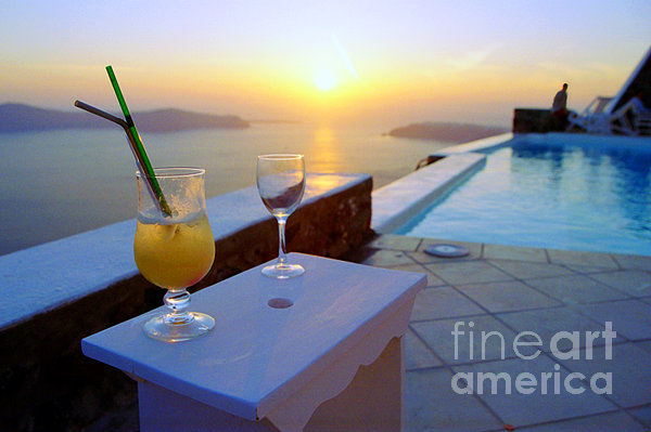Madeline Ellis - Just Before Sunset In Santorini
