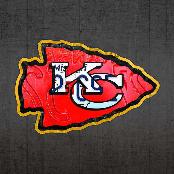 Kansas City Chiefs Football Team Retro Logo Missouri License Plate Art Greeting Card For Sale By Design Turnpike