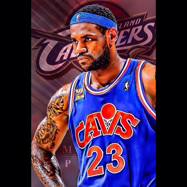 6fbb37d8e2c4 Lebron James Edit! Lebron On Cavs Greeting Card for Sale by Matt Pollock