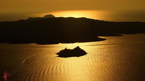 Colette V Hera  Guggenheim  - Magic Sunset View from Santorini Island