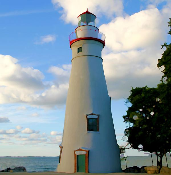 Marblehead Lighthouse In Color by Dan Sproul