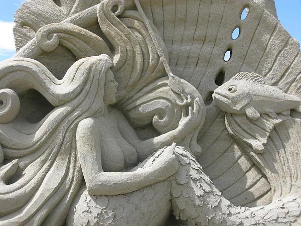 Unknown - Mermaid Sand Sculpture