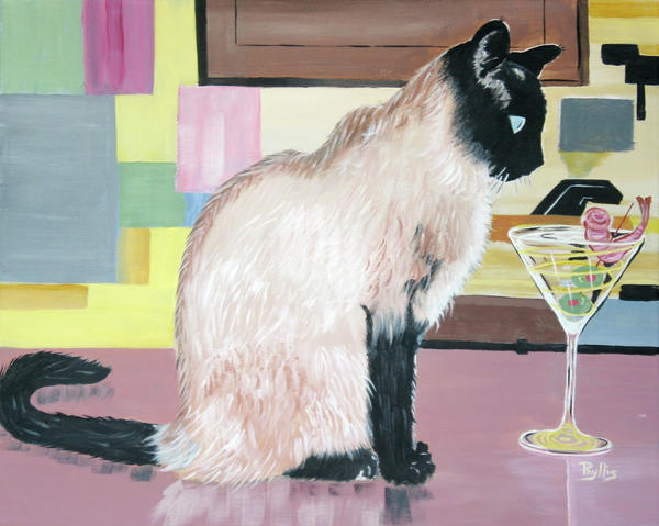 Phyllis Kaltenbach - Miss Kitty and Her Treat