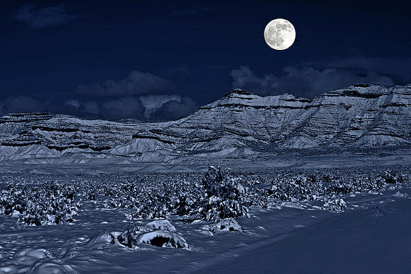 Bob Hislop - New moon over the Bookcliffs