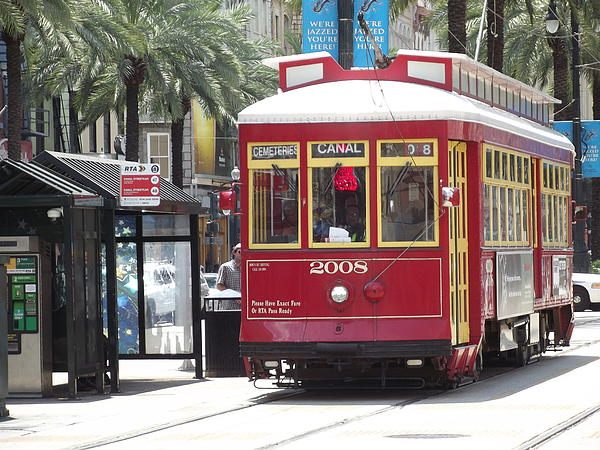 Cheryl Hardt Art - New Orleans Streetcar on Canal Street at Bourbon