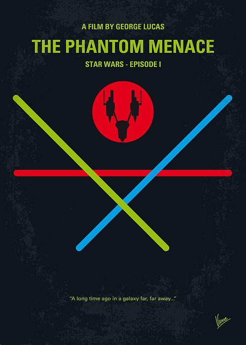 No223 My Star Wars Episode I The Phantom Menace Minimal Movie Poster Greeting Card For Sale By Chungkong Art