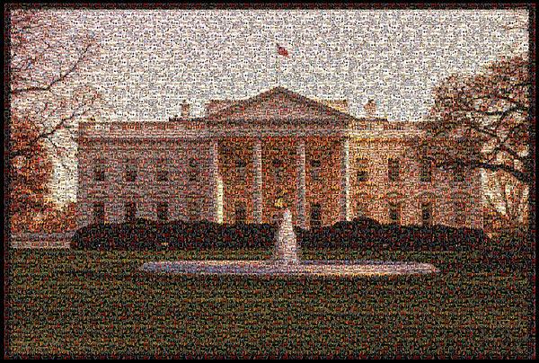 Lisa A Bello - Obama Photo Mosaic North Lawn
