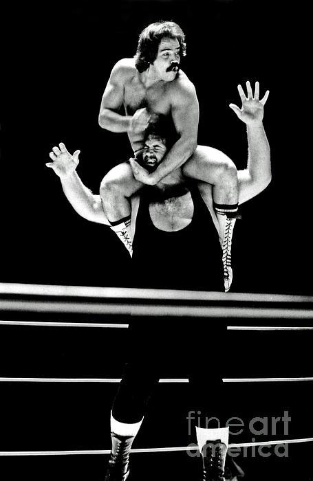 Jim Fitzpatrick - Old School Wrestling Piggyback Ride by Mando Guerrero