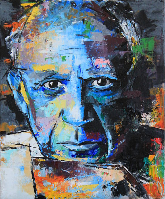 Pablo Picasso Greeting Card for Sale by Richard Day