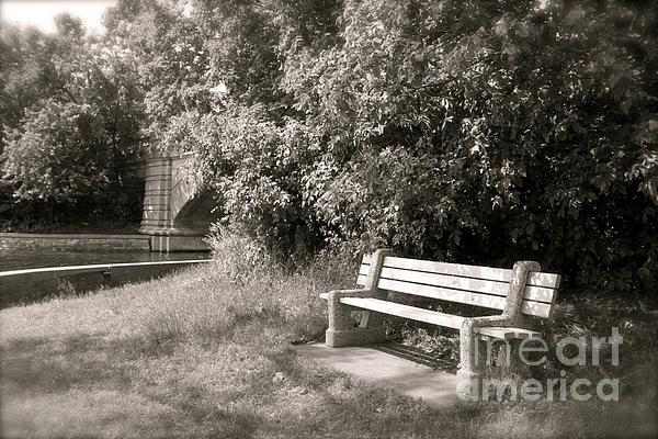 Heidi Hermes - Park Bench in Sepia