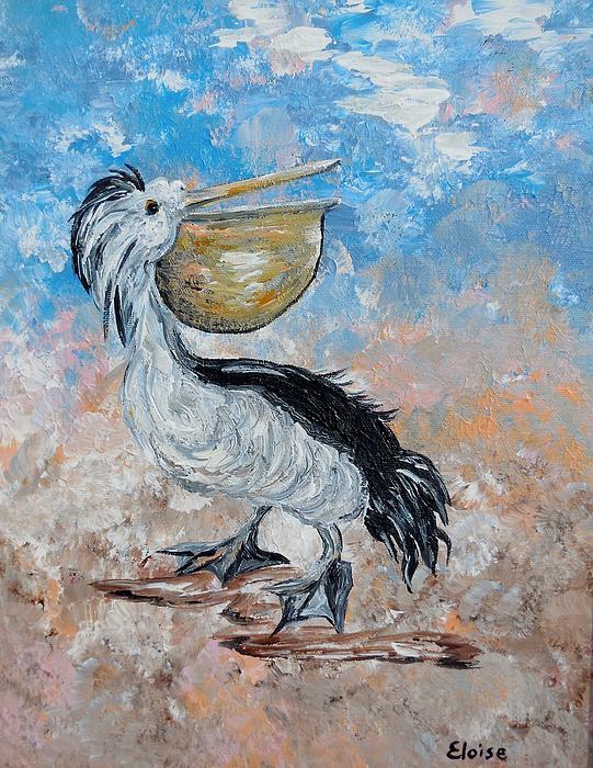 Eloise Schneider - Pelican Beach Walk - Impressionist