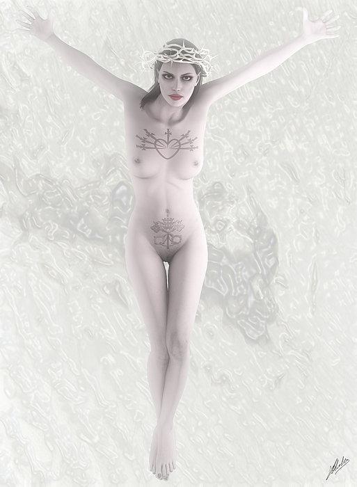 Quim Abella - White woman crucified