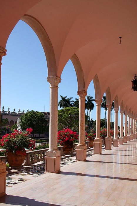 Christiane Schulze Art And Photography - Pink Marble Colonnade