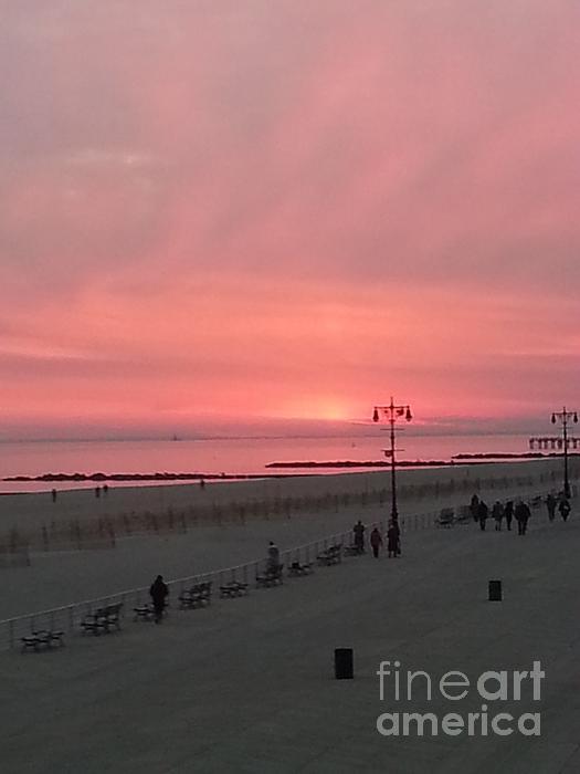 John Telfer - Pink Sunset Over Coney Island