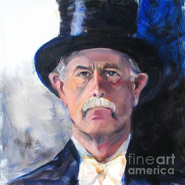 Greta Corens - Portrait of a man in top hat