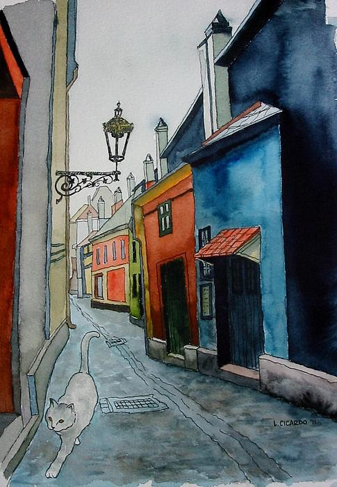 Lou Cicardo - Prowling in  Prague-SOLD