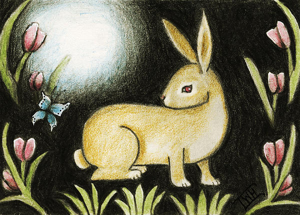 Terry Webb Harshman - Rabbit and the Butterfly . . . From the Tapestry Series