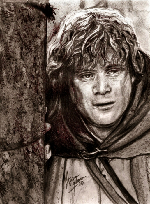 Sketchesofsam Sssh Critical Role Is: Samwise Gamgee Greeting Card For Sale By Maren Jeskanen