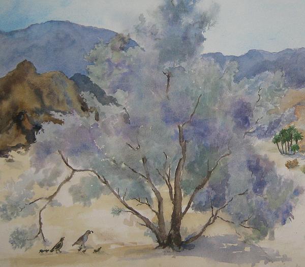 Maria Hunt - Smoketree in Bloom