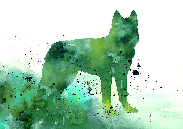 Siberian Husky Dog Silhouette Watercolor Art Print Painting Iphone 6 Case