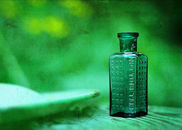 Rebecca Sherman - Small Green Poison Bottle