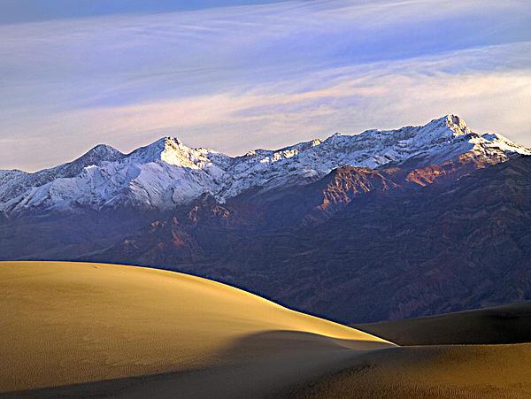 Joe Schofield - Snow on the Grapevine Range.
