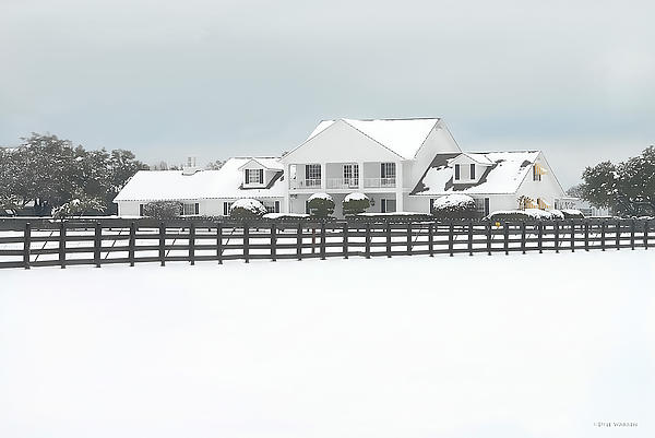 Snow Covered Southfork Ranch Greeting Card For Sale By