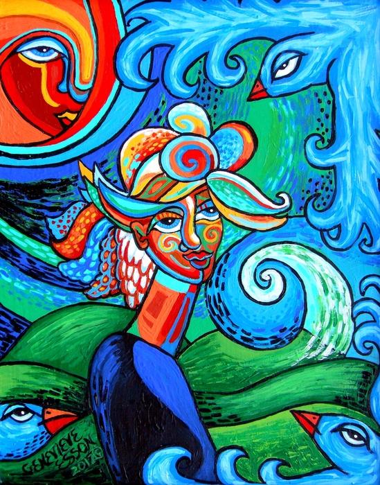 Genevieve Esson - Spiral Bird Lady