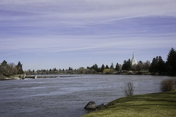 Spring Time In Idaho Falls Throw Pillow for Sale by Image