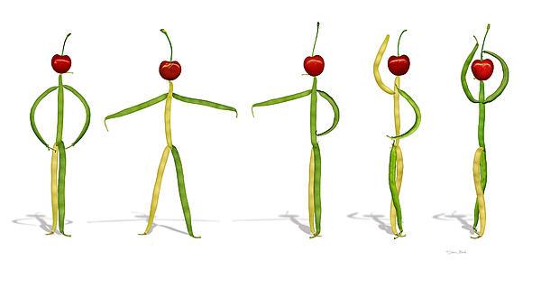 Donna Basile - Stringbean Cherries Five Ballet Positions